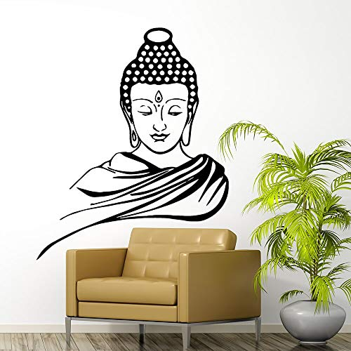 yaonuli Buda Vinilo Pegatinas de Pared decoración del hogar Pegatinas Sala de Estar Dormitorio extraíble Mural decoración del hogar Accesorios Tatuajes de pared58x70cm