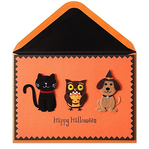 Halloween Card Handmade Cat Owl Dog Happy Halloween by Papyrus