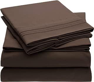 Best dark brown sheets queen Reviews