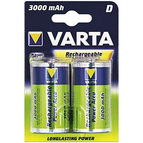 Varta® Power Akku (READY 2 USE) Akku Ni-MH Mono (D) 1,2V 3000mA (56720), 2er Pack in Blister