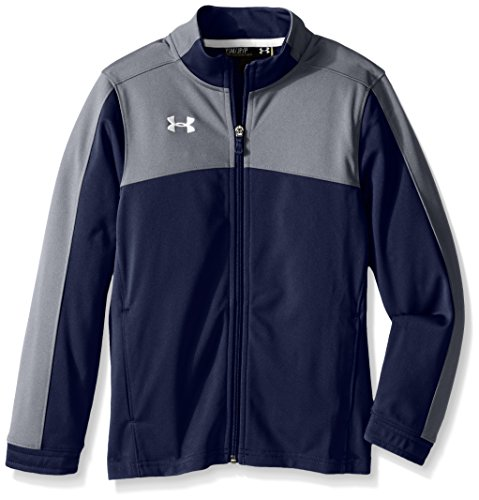 Under Armour Boys' Futbolista Soccer Track Jacket, Midnight Navy /White, Youth X-Large