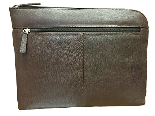 Mala Leather - Executive A4 Folio Laptop Tablet Case Sleeve Underarm Document Meeting (Brown)