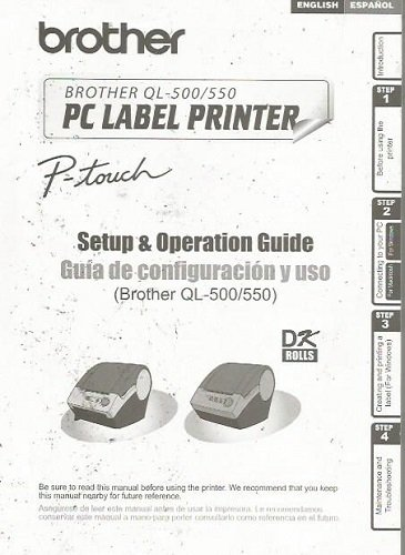 Brother QL-500/550 PC Label Printer P-Touch Setup