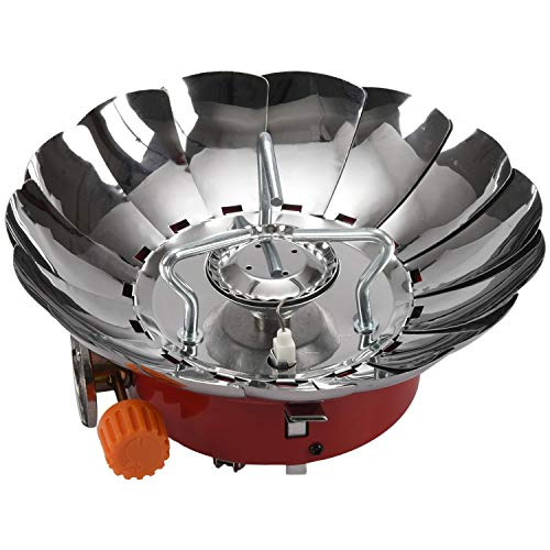 LilyJudy 4 Tipo Estufa A Prueba De Viento Estufa Utensilios De Cocina Quemadores De Gas para Cámping Picnic Comida Al Aire Libre BBQ A
