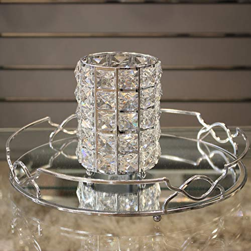 ADHW Crystal Large Votive Tea Light Candle Holder Decoration