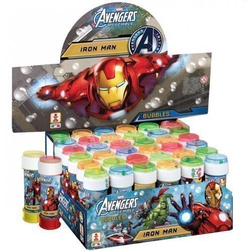 Fancy Me Jeux Bulles de Savon Iron Man Avengers pour Garçon Enfants Boîte de 36 ou 6 Pochettes Surprises Recharges Jeux Jouets - 6 Pots