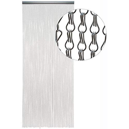 SZIVYSHI Remasuri Aluminium Metall Kette Vorhang Bildschirm Fly Insektenschutz-Rollos Pest Control Vorhang – 10 Jahre Garantie – 90 cm x 200 cm