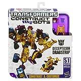 Transformers Construct-Bots Elite Class Decepticon Dragstrip Buildable Action Figure