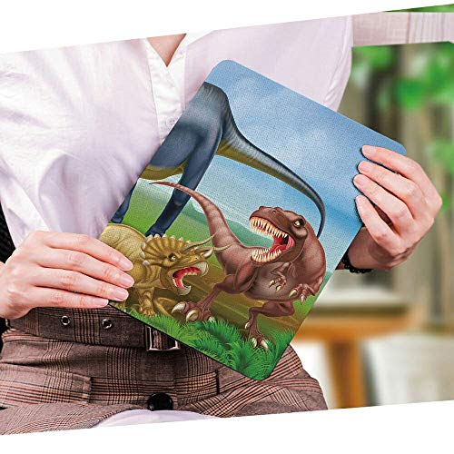 Mini Case for iPad Mini 3/2/1,(Not Compatible with Mini 5th Generation 2019) Ultra Slim Lightweight Smart Case Cover Stand,Dinosaur,Different Types of Dinosaurs Natural Jungle Environment T Rex Tricer