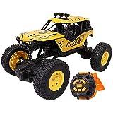 Control remoto de juguete de juguete de coche MUJER CONTROL REMOTO 2.4 GHz Alta velocidad, Reloj Camión de control remoto 4x4 Off-Road, con faros, Coche de juguete de escalada eléctrica, Niños Adulto