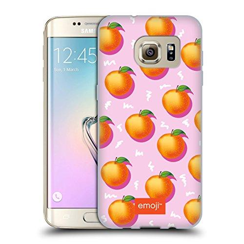 Head Case Designs Oficial Emoji® Naranjas Frutas Carcasa de Gel de Silicona Compatible con Samsung Galaxy S7 Edge