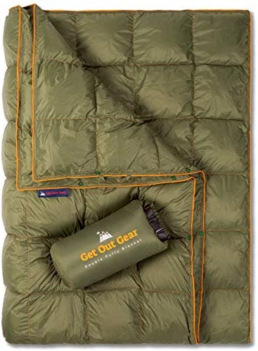 Get Out Gear Double Puffy Camping Blanket Extra Puffy Packable Lightweight and Warm Ideal for product image