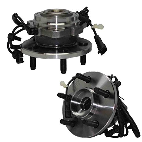 Detroit Axle 513177 Both w/ABS New Front Driver & Passenger Side Complete Wheel Hub and Bearing Assembly for 2002 2003 2004 2005 2006 2007 Jeep Liberty 5 Lug W/ABS