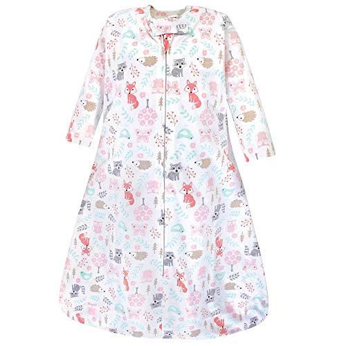 Hudson Baby Unisex Baby Long Sleeve Cotton Jersey Sleeping Bag, Girl Woodland, 6-12 Months