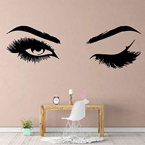 Yaonuli muursticker, schattig oog, waterdicht vinyl, decoratie voor thuis, kinderkamer