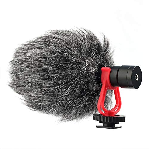 Snufeve6 Microphone Microphone à condensateur Conception cardioïde pour réduire efficacement Le Bruit de l'environnement Externe Appareil Photo Reflex numérique, téléphone Portable et caméscope