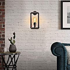 Long Life Lamp Company Vintage Industrial Water Pipe Wall Light Rustic Lamp Metal Steampunk #1