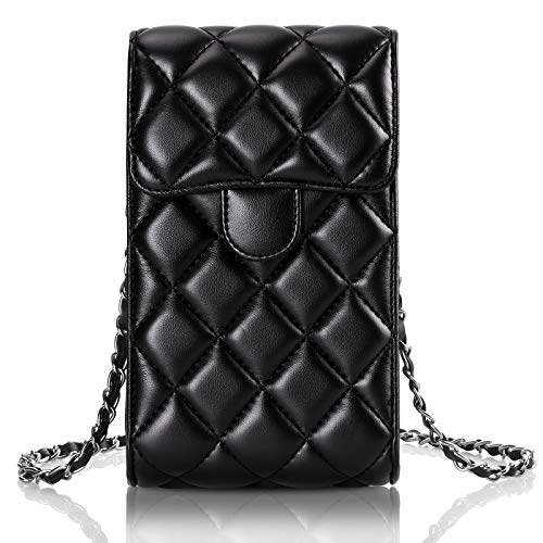 CHEERINGARY Crossbody Bag for Women Girls Cell Phone Bag Wallet with Credit Card Slots Lightweight Crossbody PU Leather Handbags Compatible with iPhone 12, 12 Pro, 11, XR, Galaxy S21, S10, Black