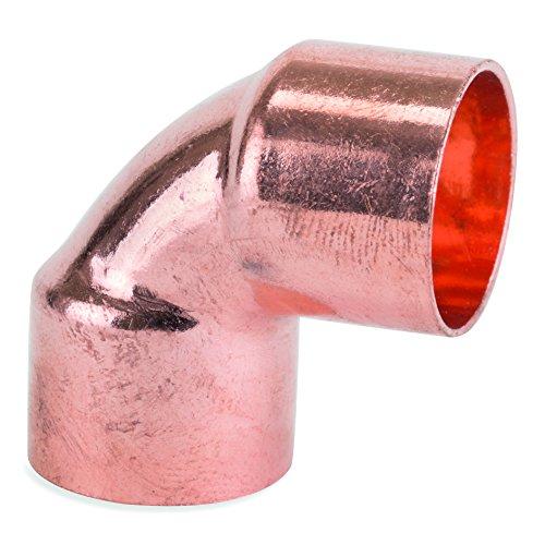 flowflex 5090.22EF Igualdad Codo, cobre/latón, 22mm, juego de 25piezas