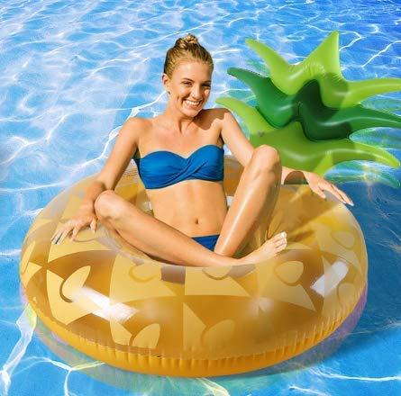 Gigante inflable piña anillo de natación tubo salón cama flotante colchón de agua inflable Donut piscina juguetes para adultos