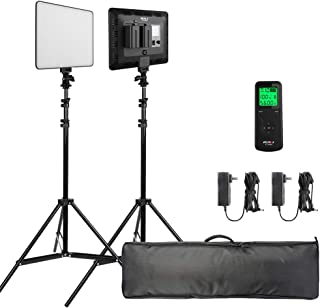 VILTROX 30W CRI95 2-Pack Ultra Bright LED Video Light kit,LCD Display Screen,3300K-5600K Bi-Color,Compatible for Canon, Nikon, pentax, panasonic, Sony, Samsung, Olympus&Remote Controller&DC Adapter