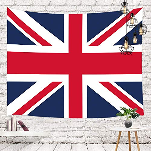 Tapestry Tapiz de la bandera británica de Inglaterra Gran Bretaña, pared gráfica de la bandera nacional de Grunge Tapestries 80X60inch