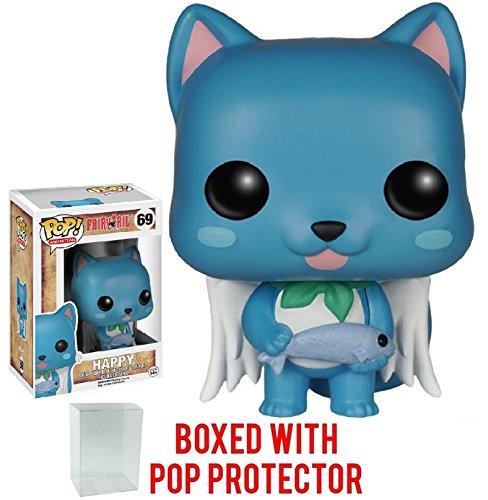 Funko Pop! Anime: Fairy Tail - Happy Vinyl Figure (Bundled with Pop BOX PROTECTOR CASE)