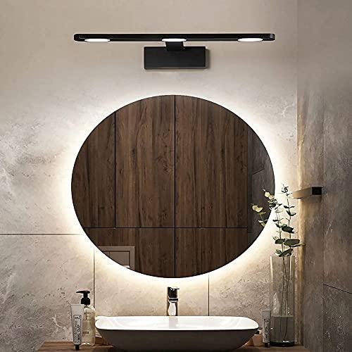 DHRH Luz LED Moderna para Espejo de baño con Interruptor, 3 Colores, Ajustable, luz de Maquillaje de Mesa con para Dormitorio, Sala de Estar, Aluminio, 3 Cabezas