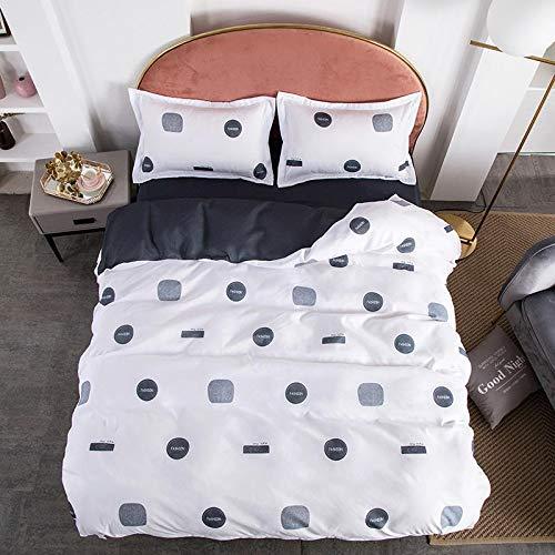 Duvet Sets Brushed Cotton Duvet Covers Printed Quilt Bedding 4pc (Color : 23, Size : 2.2m 4pc)