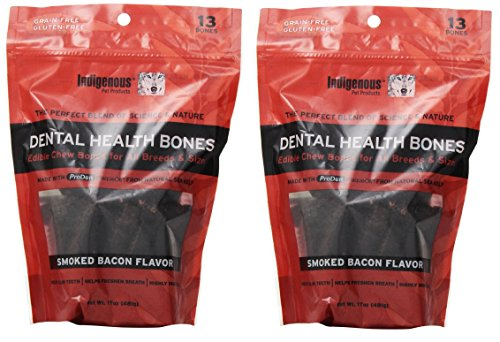 Indigenous Dental Health Bones Smoked Bacon Flavor 17oz (2 Pack)