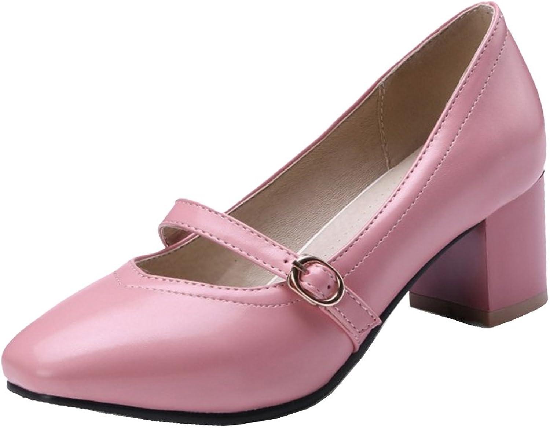TAOFFEN Women's Mary Jane shoes Heels