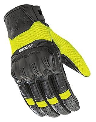 Joe Rocket Men's Phoenix 5.1 Hybrid Motorcycle Glove (Hi-Viz/Black, Medium)