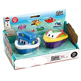aixu Juguete De Baño para Bebés Barco De Velocidad Barco De Rociado De Agua Juguete De Agua Juguete De Rociado De Agua Azul Y Morado