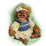 The Ashton-Drake Galleries Darling Daisy Monkey So Truly Real Weighted Newborn Baby Doll 12-inches
