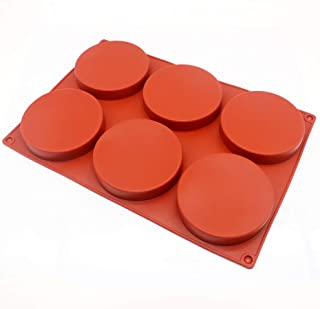 6-Cavity Large Cake Molds Silicone Round Disc Resin Coaster Mold Non-Stick Baking Molds, Mousse Cake Pan, French Dessert, Candy, Soap