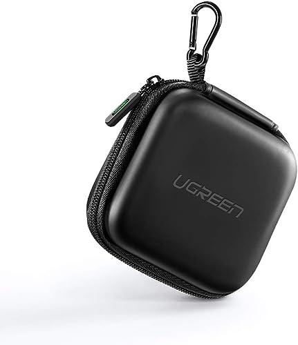 UGREEN Funda de EVA Robusto para Auriculares, Estuche Cable y Audifono para EarPods, Airpods, Beats X, Bose Sound Spo...