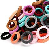 100PCS Toddler Hair Ties, Kids Hair Ties, Hair Bands and Elastic Ponytail Holders for Toddler Girls (Diameter 1 Inch and Assorted Colors) by Nspring