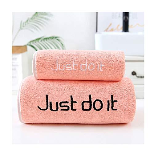 ZJM Juego de Toallas,1 Toallas de baño,1 * Toalla + 1 * Toalla de baño,Toallas de Alta absorción,Toallas de baño,Toallas de baño de algodón