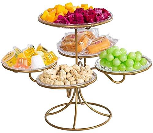 Soporte para cesta de frutas, Placa de fruta de refrigeria, tazón de fruta, decoración de mesa de casa de metal nórdico - bocadillo melón fruta cesta fruta ensalada de fruta tazón de taza , pa