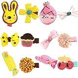 Unicra Haarspangen 12 PCS Baby Kleinkind Bogen Haarspangen Haarteile Zubehör Geschenksets für Mädchen