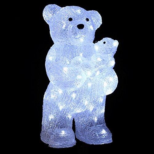 Fééric Lights and Christmas - Décoration Lumineuse LED Ours 44cm Blanc