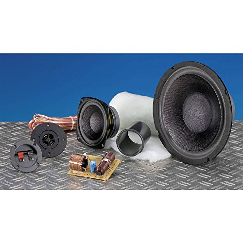 SpeaKa Professional Kit 2 3-Wege Lautsprecher Bausatz inkl. Dämmmaterial, inkl. Frequenzweiche, inkl. Kabel
