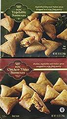 Trader Joe's Mini Samosas Variety Pack- 2 Flavors Mini Chicken Tikka Samosas Mini Vegetable Samosas Ships Frozen
