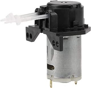 12V/24V DC Dosing Pump Self Priming Peristaltic Head Adjustable Flow Direction with Connector for Aquarium Lab Chemical Analysis (Black-24v 13)