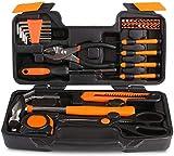 Conjunto de herramientas Kit de herramientas, kits de herramientas de bricolaje Inicio del hogar for la reparación y el mantenimiento diario en caso de almacenamiento de plástico caja de herramientas
