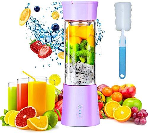 Hefacy Mini Portable Blender, 380ml Milkshake Maker Fruit Mixer USB Rechargeable Electric Extractor Machines