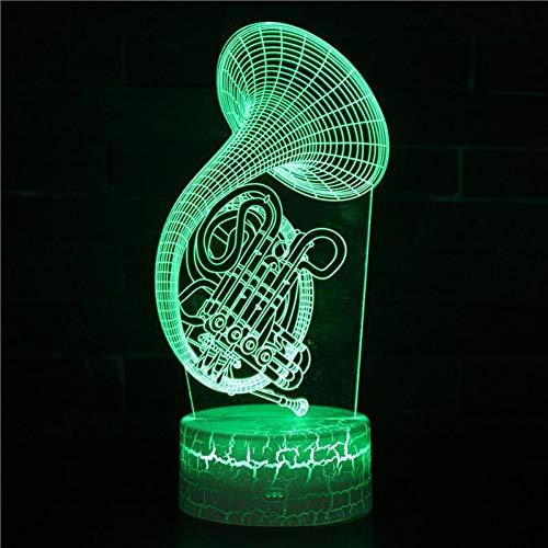 Zyue Elektrische Gitarre Nachttischlampen Männer Und Frauen Geburtstagsgeschenk Weiße Basis Schöne 7 Farbwechsel 3D Lampe,A7