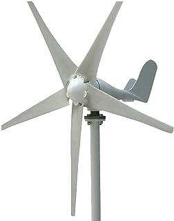Berkalash Generador de turbina eólica, 24 V 400 W turbina de viento kit de 5 hojas de baja velocidad de viento, turbinas de viento con controlador de carga jardín