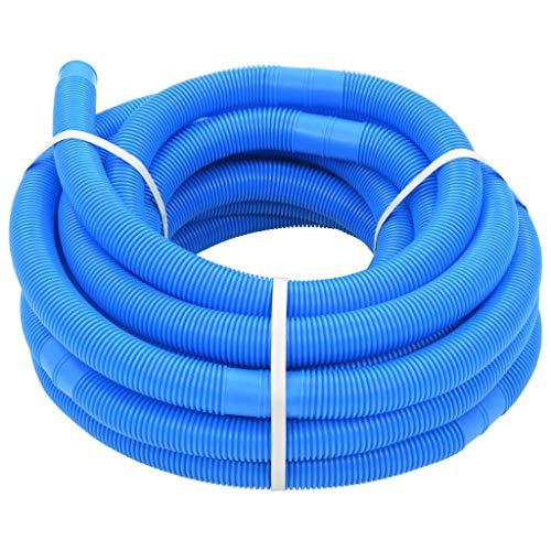 Manguera flexible para piscina de 32 mm, 15,4 m, color azul, divisible cada 1,1 m, resistente a los rayos UV y a la intemperie