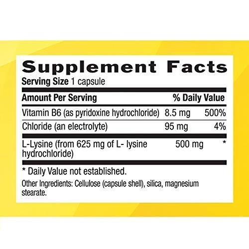 Country Life L-lysine 500 Mg with b-6, 250-Count